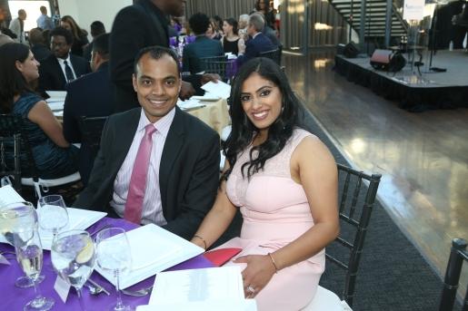 Board Member and mentor Prashanthi Rao Raman and husband